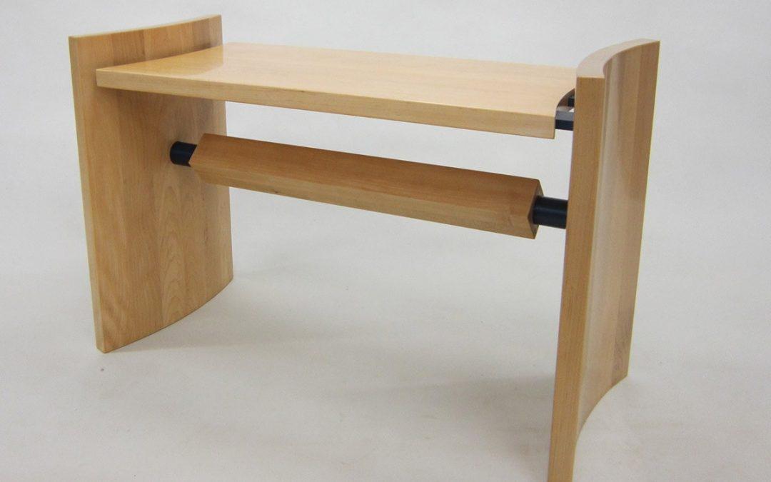 American Maple and anodised aluminium Bench Seat
