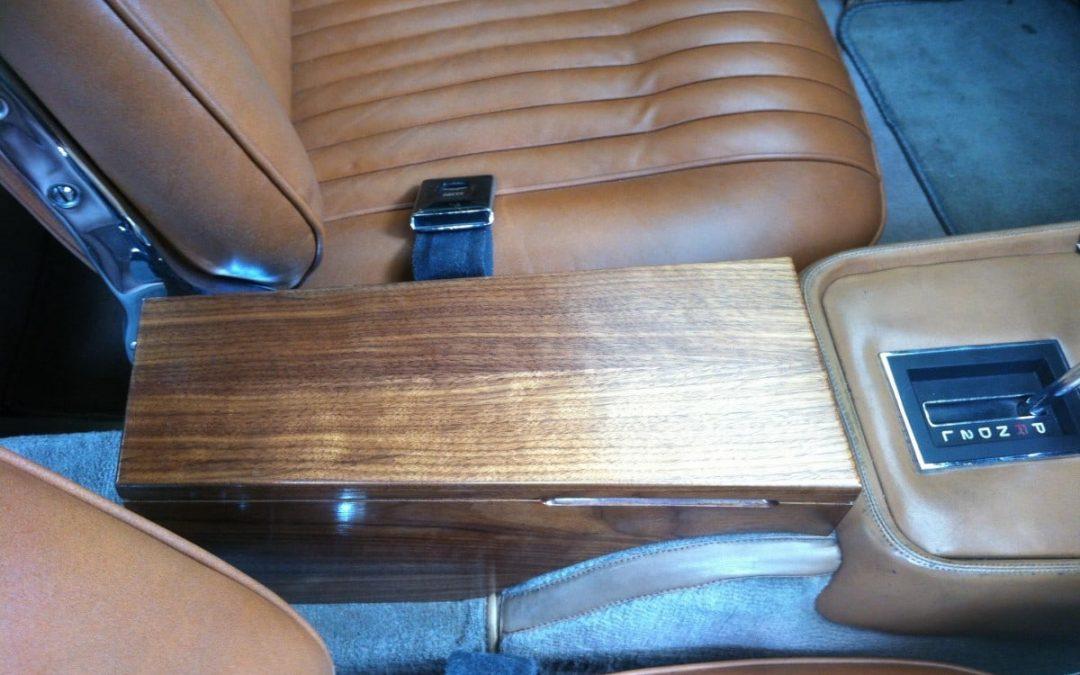 American Walnut Car Console