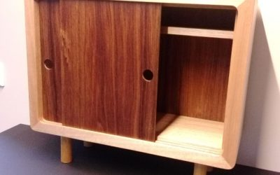 Tassie Oak/Blackwood Small Cabinet